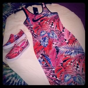 NWT nike mid length fitted dress